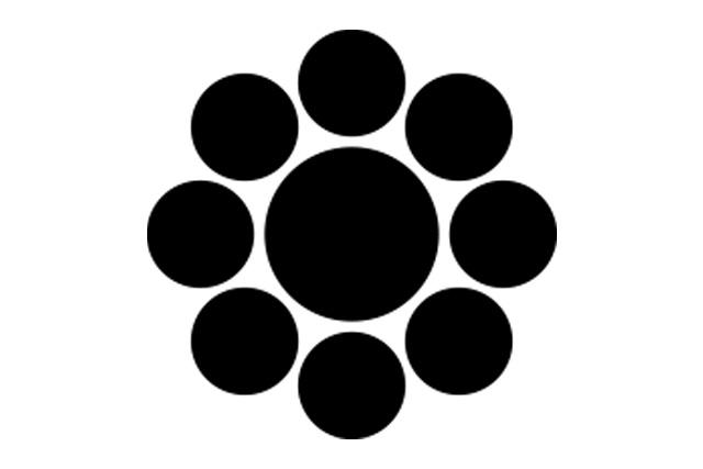 甲賀望月家の家紋 九曜紋