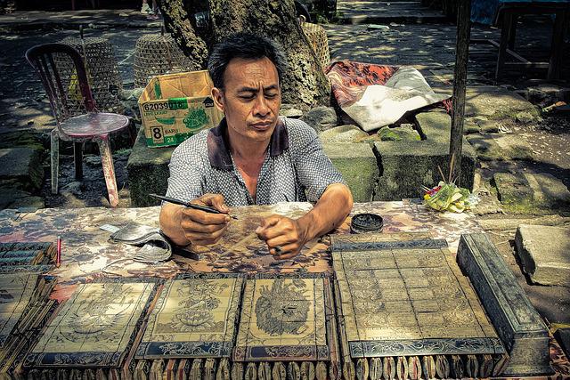 バリ島の手工業者