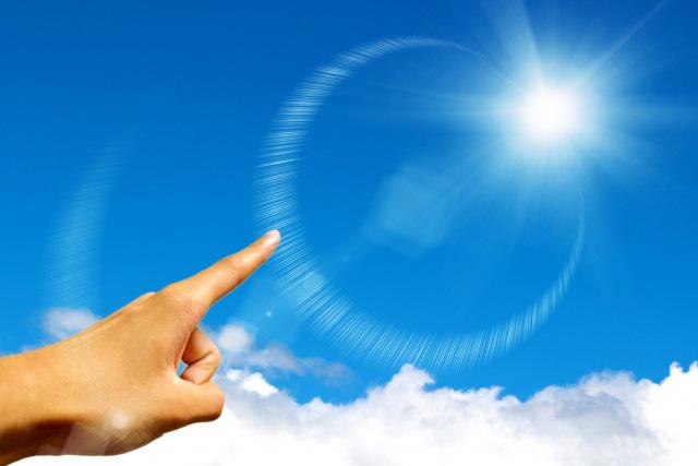 希望の方向を指し示すリーダーの指