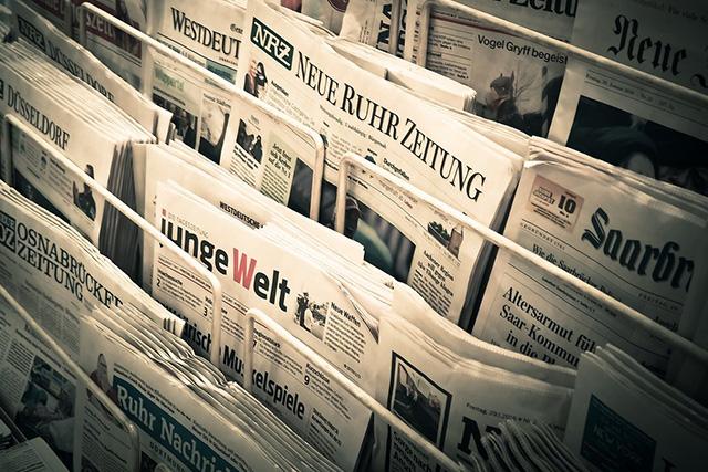 新聞やフリーペーパー