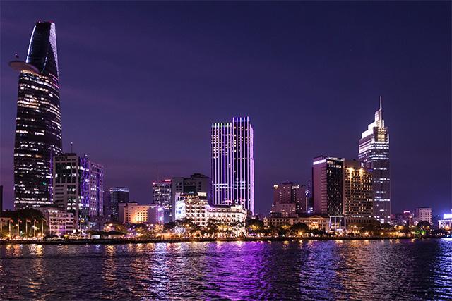 ベトナム ホーチミン市の夜景