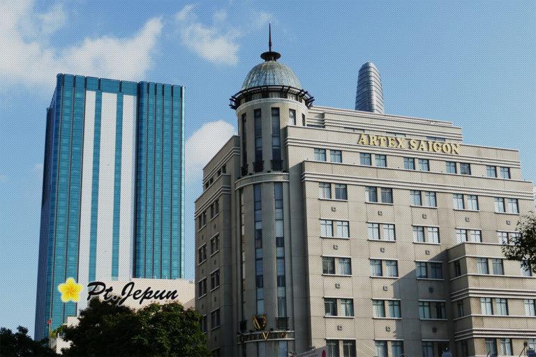 ベトナム ホーチミンのオフィス街