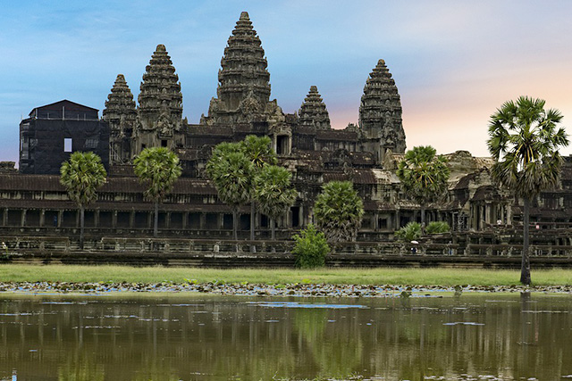 カンボジア シュムリアップの夕景
