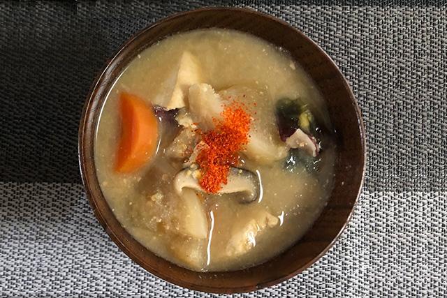 一休堂の京一味をかけた味噌汁