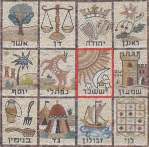 イッサカル族の紋章『太陽&月と星』=阿波忌部『九曜紋&月星紋』